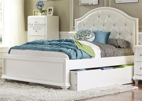 33874 size bed with trundle trundle bed with tufted headboard by liberty