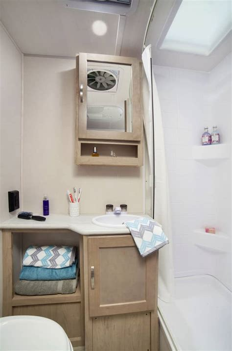 top  small campers  bathrooms