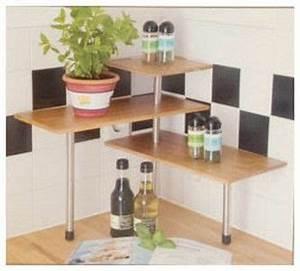 Etagere Angle Cuisine : etagere d 39 angle bambou tablette d 39 epices cuisine ou plantes cuisine pinterest bambou ~ Teatrodelosmanantiales.com Idées de Décoration