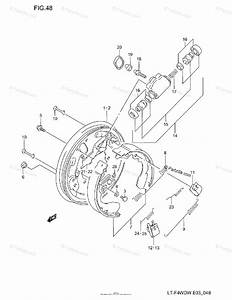Suzuki Atv 1998 Oem Parts Diagram For Front Wheel Brake