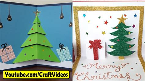 easy handmade christmas cards ideas  kids  youtube