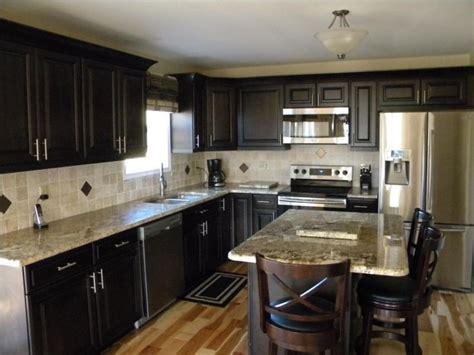 dark cabinets light granite dark cabinets light granite kitchens pinterest