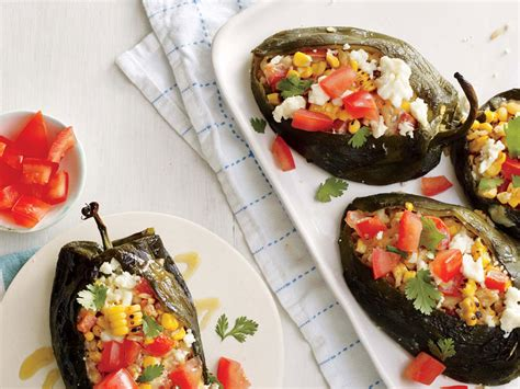 cooking light stuffed peppers summery stuffed poblanos cooking with peppers cooking