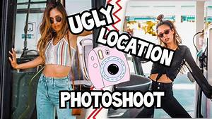 UGLY LOCATION PHOTOSHOOT CHALLENGE!! | Happysunnyflowers ...