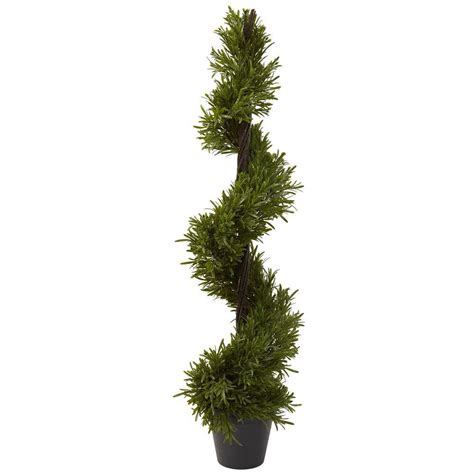 nearly natural 39 in indoor outdoor rosemary spiral tree