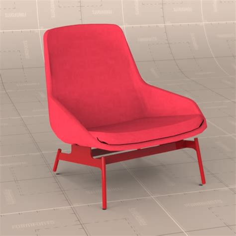 field lounge chair 3d model formfonts 3d models textures