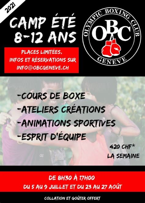 (redirected from 2021 pan american boxing olympic qualification tournament). Camp été 2021 - Olympic Boxing Club Genève