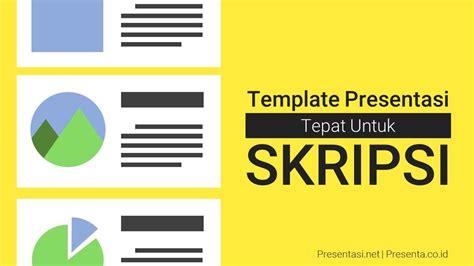 template presentasi  tepat  skripsi presentasinet