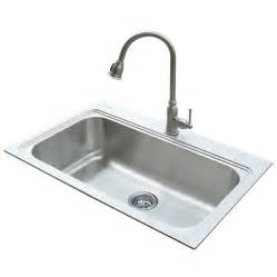 kitchen faucets kansas city lowes stainless steel single basin sink and faucet 67 b m ymmv slickdeals