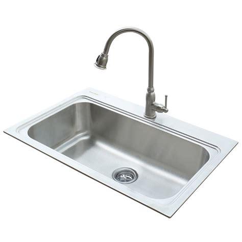 standard kitchen sink faucets shop standard 22 in x 33 in silver single basin