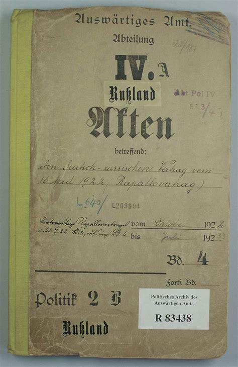 zusammenfassung der deutsch russische vertrag rapallo