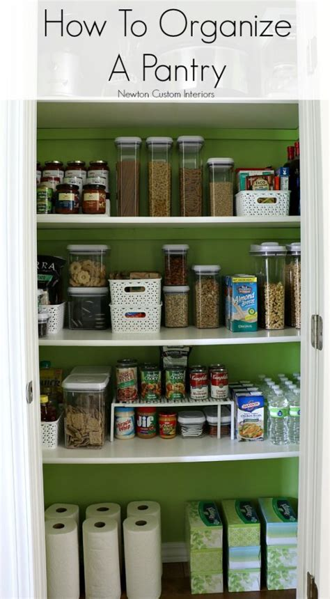 ideas for organizing kitchen pantry how to organize a pantry newton custom interiors