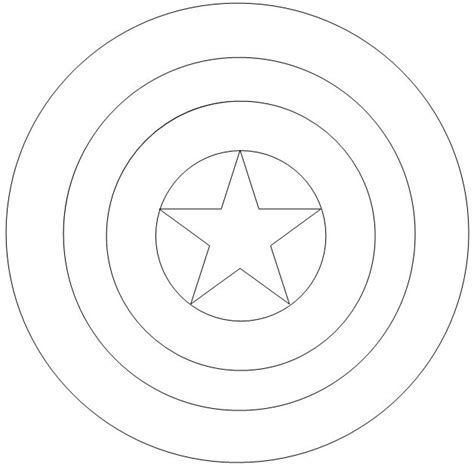 Kleurplaat Schild by Captain America Shield Coloring Page The Defense
