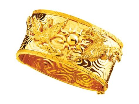 gold  dragon  phoenix bangle chinese wedding