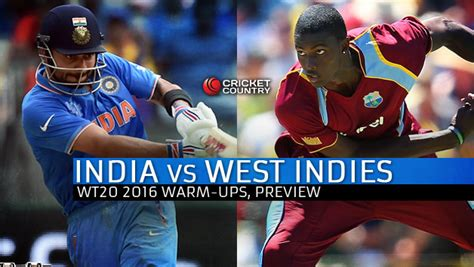 India Vs West Indies, Icc World T20 2016 Warmup Match At
