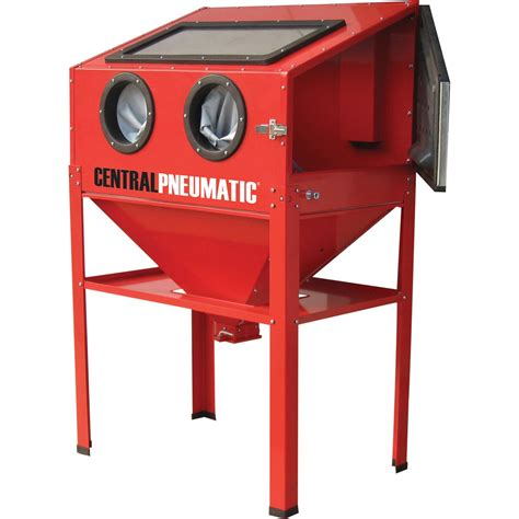 Central Pneumatic Blast Cabinet Glass central pneumatic air sand blasting abrasive blast cabinet