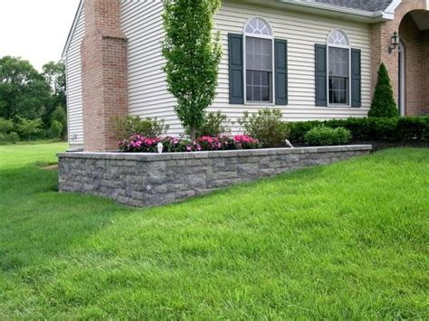 Leveling A Sloped Backyard by Retaining Walls Beds And Projects On