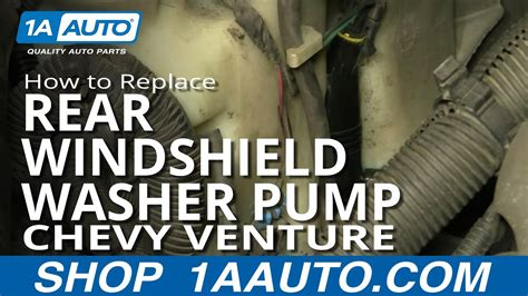 install replace rear windshield washer pump venture