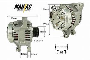 Alternator For 1998-2002 Toyota Corolla  U0026 Chevrolet Prizm - 1 8l  U0026 39 02- U0026 39 98 All
