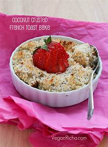 Baked Coconut Crusted French Toasts. Vegan Refined Oil ...