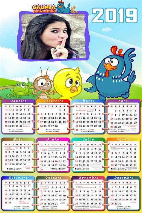 Montagem de Fotos Calendário Foto Moldura calendário