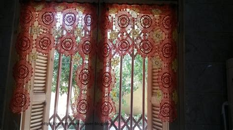 modele rideau cuisine mes realisations cuisine les rideaux crochet d 39 amour