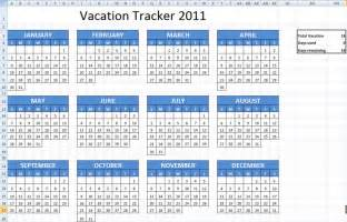 Excel Employee Vacation Calendar Template 2016
