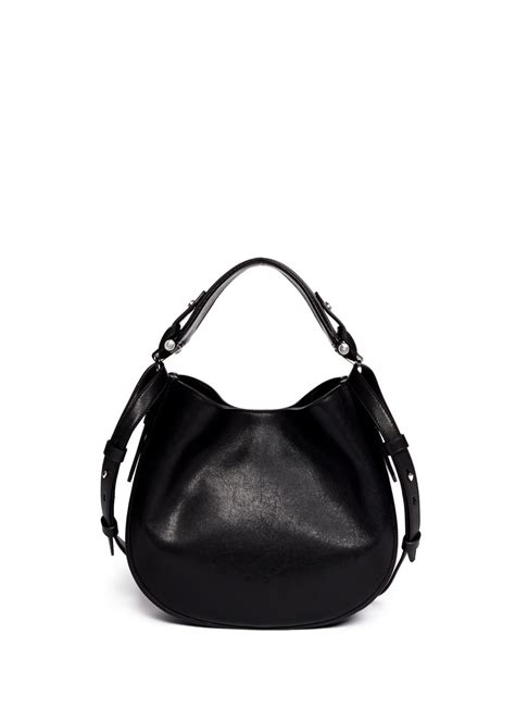 givenchy obsedia zanzi small hobo bag  black lyst