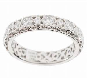 Tacori iv diamonique epiphany crescent lace band ring for Tacori wedding rings qvc
