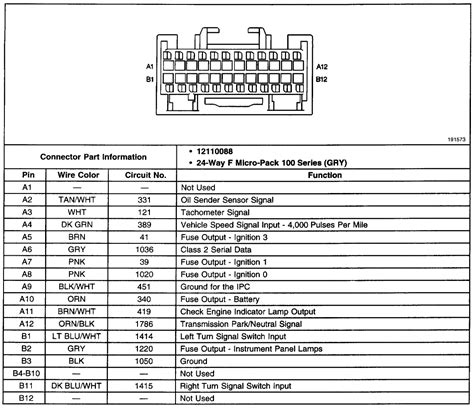 1995 Gmc Instrument Cluster Wiring Diagram by Chevy S10 Cluster Wiring Diagram Wiring