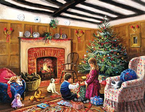 christmas morning gifts jigsaw puzzle puzzlewarehousecom