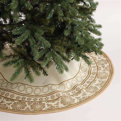 gold metallic snowflake jute tree skirt world market