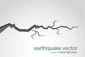 Earthquake crack illustration - Free Vector