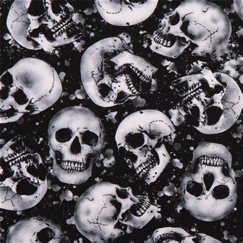 Black Skull Fabric By Timeless Treasures 'wicked', Skulls