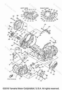 Yamaha Atv 2016 Oem Parts Diagram For Crankcase Cover  1