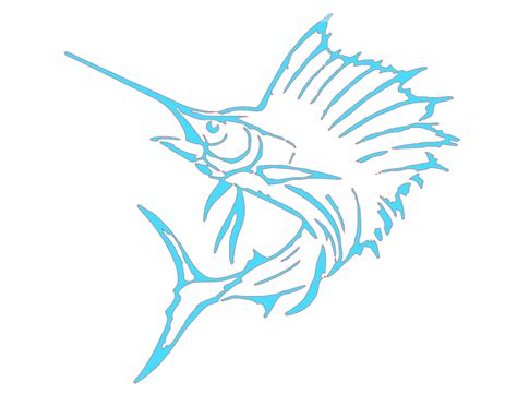 Boat Hull Outline by Sailfish Outline