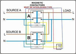 Automatic Change Over Switch Circuit Diagram  Automatic  Free Engine Image For User Manual Download