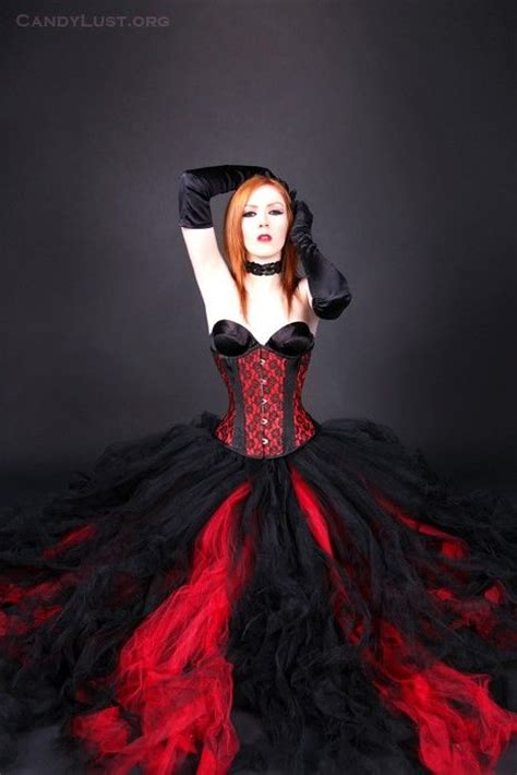 red and black gothic dress pictures photos and images