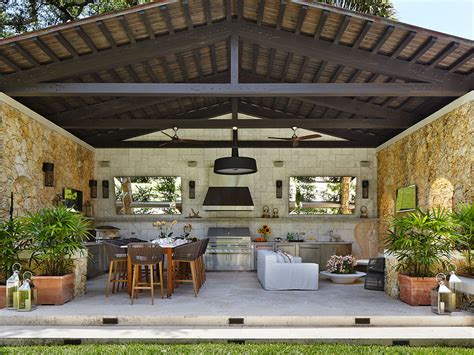 kitchen backyard design patio things entertaining outdoors in miami during the 2273