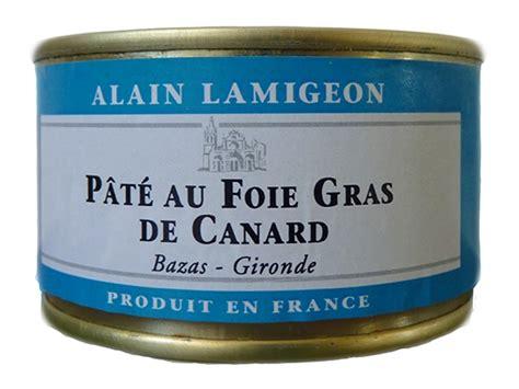 pate de canard au foie gras en conserve p 226 t 233 au foie gras de canard 130g lamigeon conserverie fond 233 e en 1945