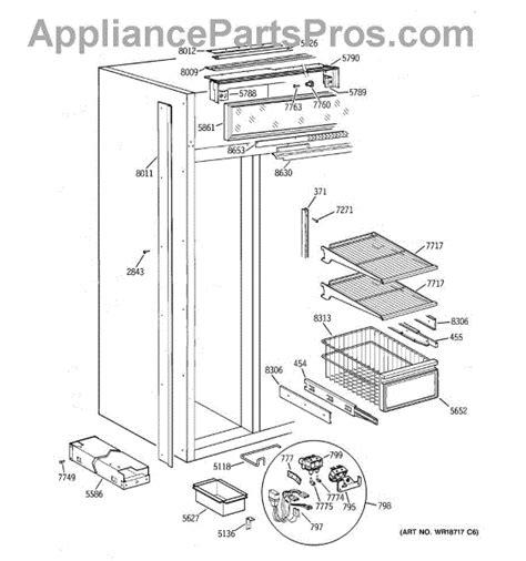 parts  ge zisbdca freezer section parts appliancepartsproscom
