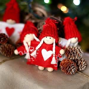 4 scandinavian dolls decorations pinter