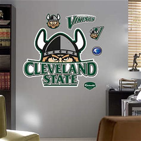 cleveland state vikings logo wall decal shop fathead