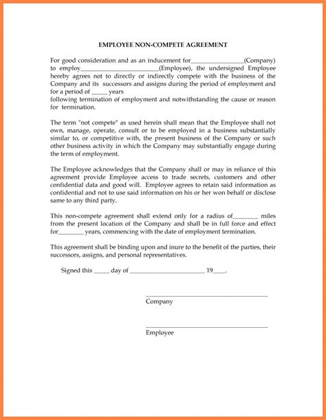 disclosure   compete agreement purchase