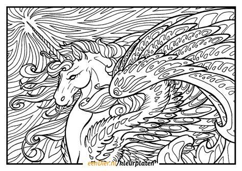 Kleurplaat Moeilijk Unicorn by Kleurplaat Eenhoorn Gratis Eenhoorn Kleurplaten