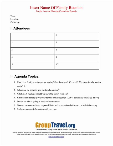 Download them for free in ai or eps format. Lovely Family Reunion Agenda Template   Audiopinions ...
