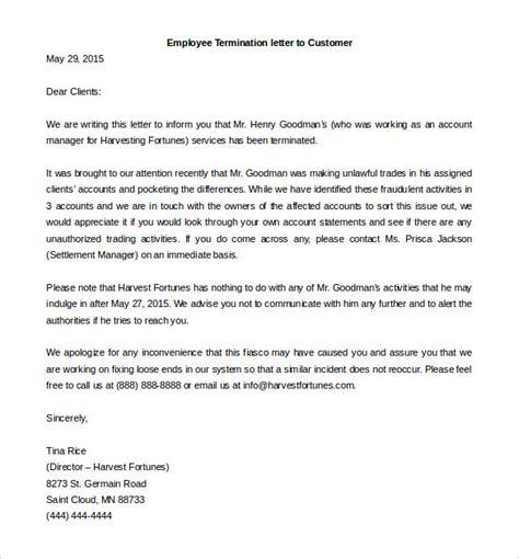 employee termination template 22 termination letter templates doc pdf ai free premium templates