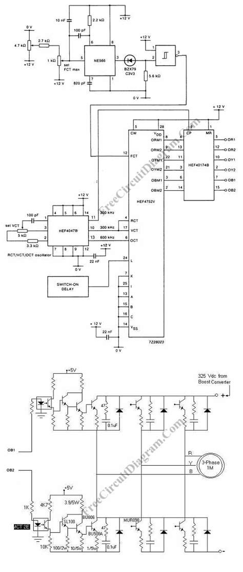 Ac Motor Schematic by 3 Phase Ac Motor Speed Circuit Bzx79 Circuit