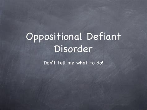 oppositional defiant disorder troubled teen