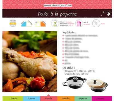 fiche recette de cuisine fiche recette viande poulet à la paysanne version pdf